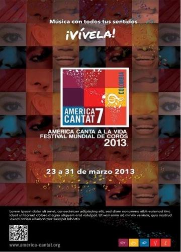 En Marzo 2013: La Schola Juvenil de Venezuela asiste al America Cantat 7 en Bogotá