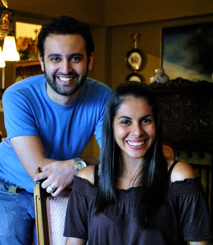 Katherine Serrano y Miguel Salas