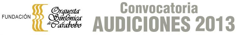 La Orquesta Sinfónica de Carabobo convoca a Audiciones