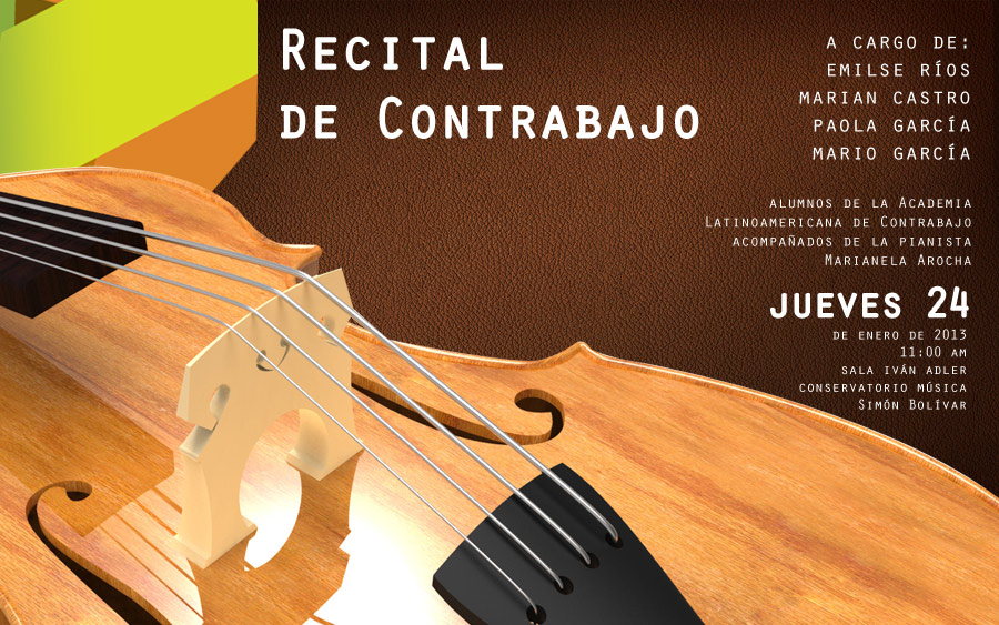 El Conservatorio Simón Bolívar ofrece recital de contrabajo