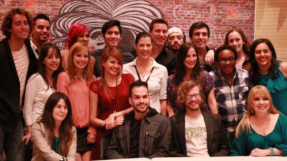 Armando Alvárez y el elenco de Godspell