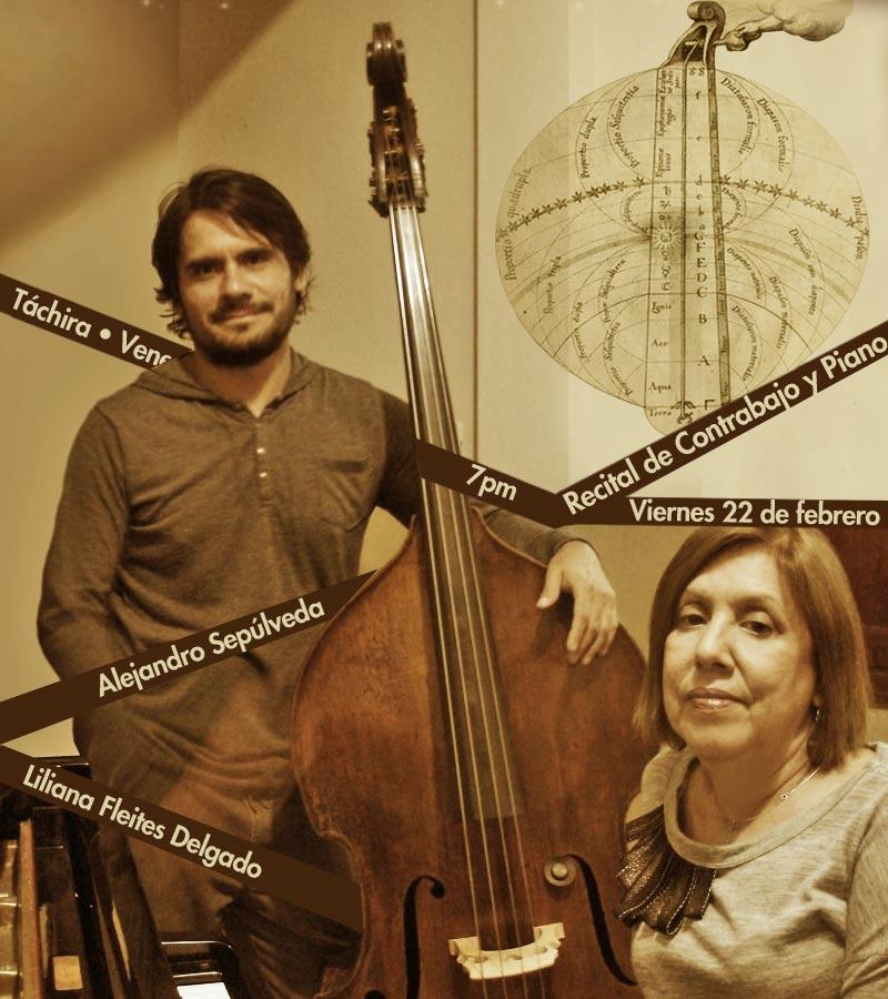 """""""Recital de Contrabajo y piano"""" a cargo de Alejandro Sepúlveda y Liliana Fleites Delgado"""
