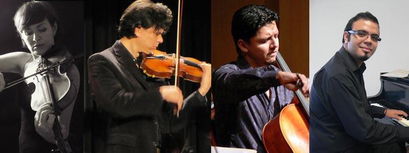 Olga Tkachenko, Iván Pérez, Christian Jiménez, Carlos Gutiérrez