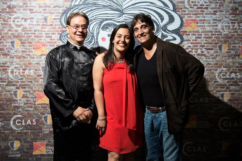 Levi Rusell, Claudia Salazar y Guillermo Dávila