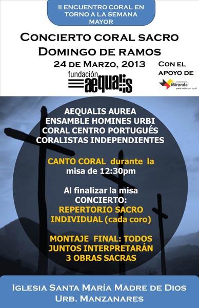 Cartel Concierto 24 marzo Manzanares