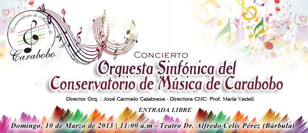 Concierto de la Orquesta Sinfónica del Conservatorio de Música de Carabobo