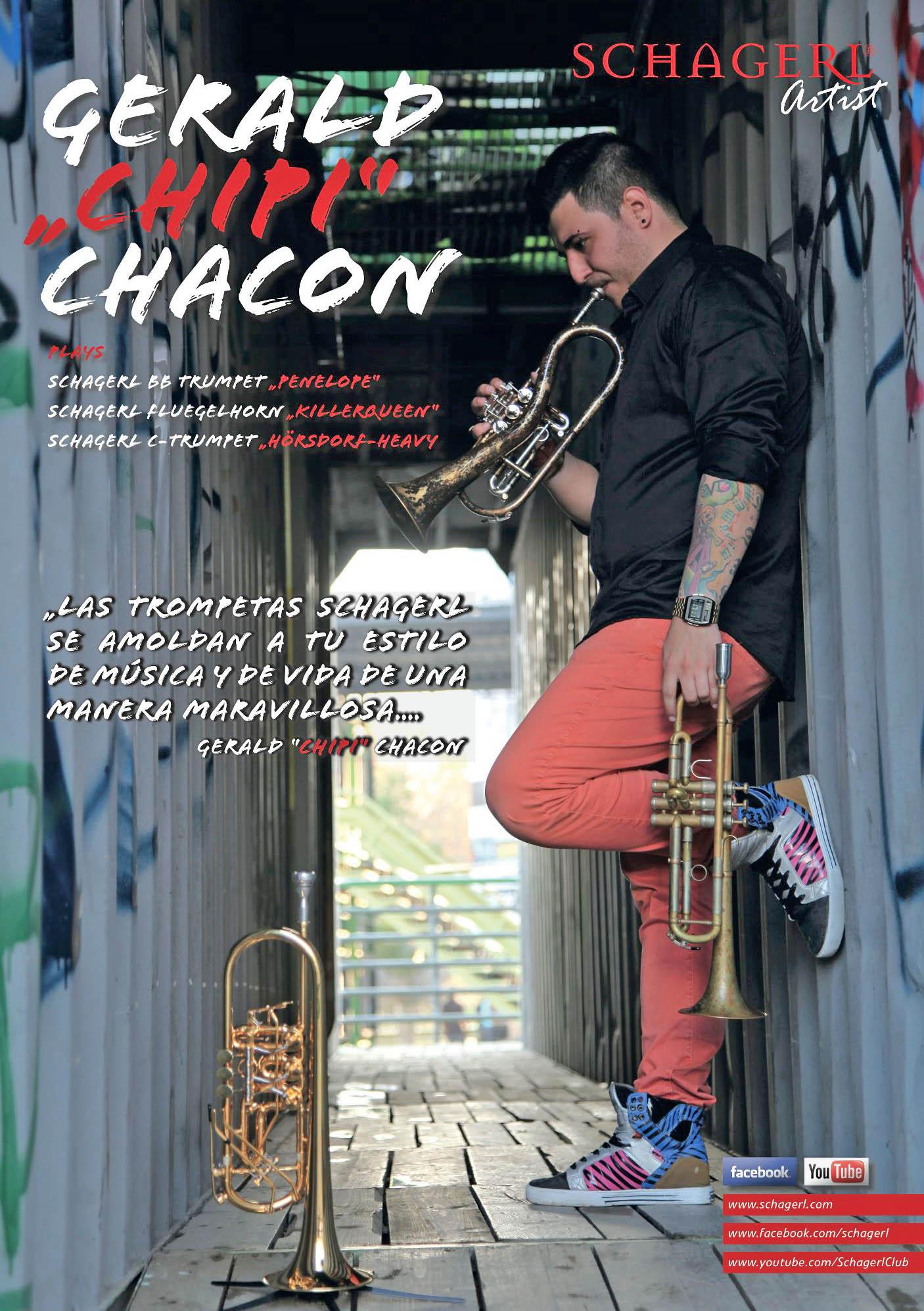 """Gerald """"Chipi"""" Chacón Artista Schagerl"""