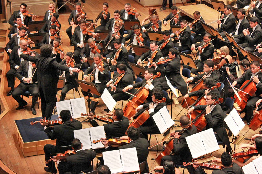 Gustavo Dudamel y la Orquesta Sinfónica Simón Bolívar de Venezuela en la Gira Latinoamericana Sao Paolo