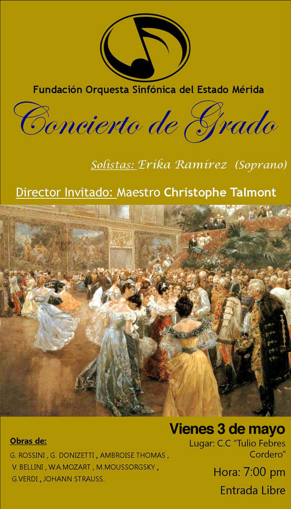 Concierto de Grado, Fundación Orquesta Sinfónica del Estado Mérida