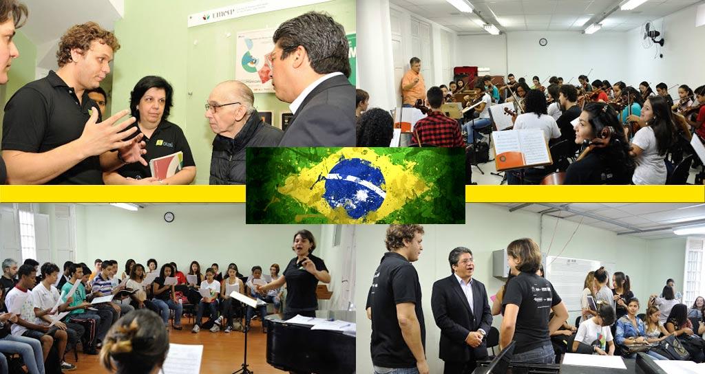 El Sistema venezolano es el hermano mayor de las orquestas y coros de Sao Paulo