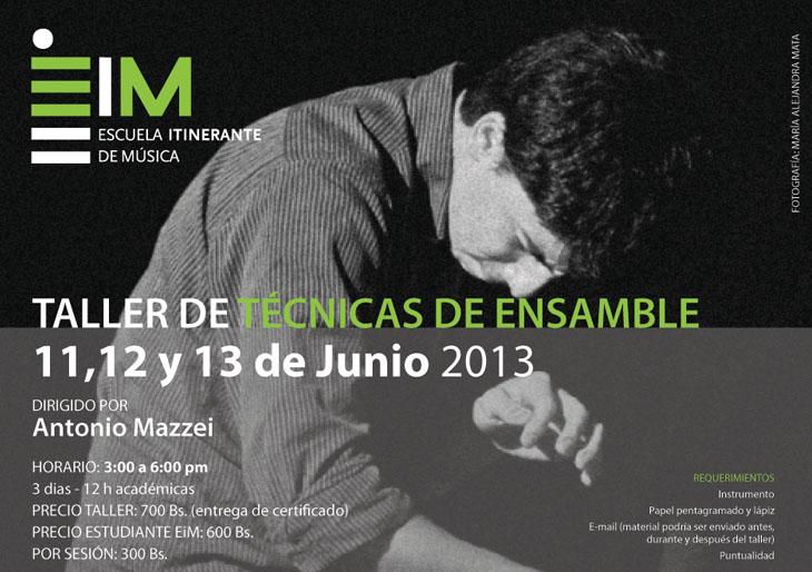 La Escuela Itinerante de Música (EiM) inicia Taller de Técnicas de Ensamble
