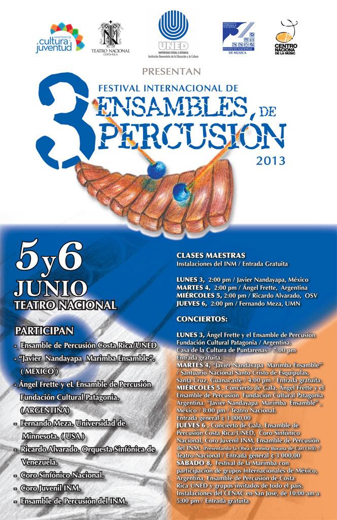 Venezuela presente en el 3er Festival Internacional de Ensambles de Percusión 2013