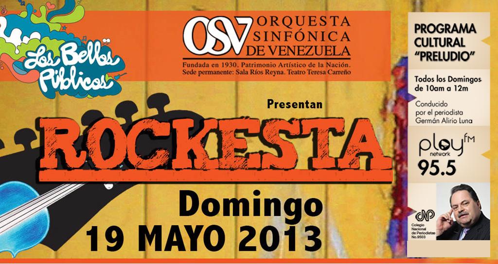 """Rock que conquista con acordes sinfónicos en el Programa Cultural """"Preludio"""""""
