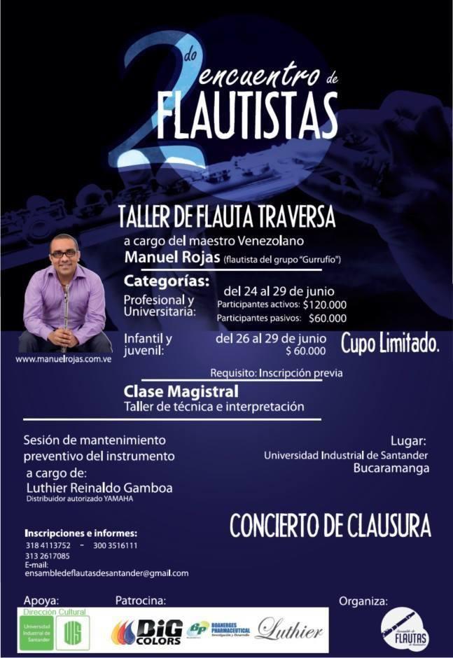 """2do Encuentro de Flautistas """"Taller de Flauta Traversa"""""""
