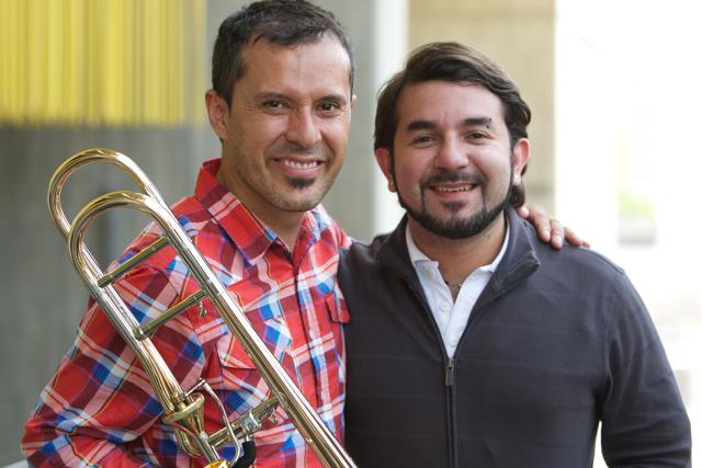 El trombonista Pedro Carrero, director de la Academia, espera aumentar con el tiempo el número de alumnos.