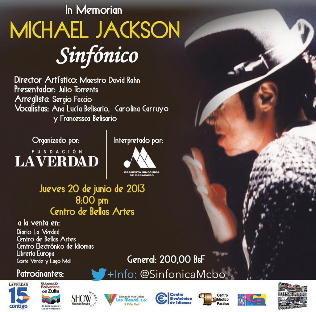 Afiche Concierto Michael Jackson