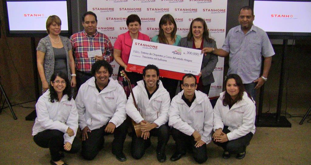 El Sistema de Orquestas de Orquestas y Coros del estado Aragua agradece donativo de Sthanhome Venezuela