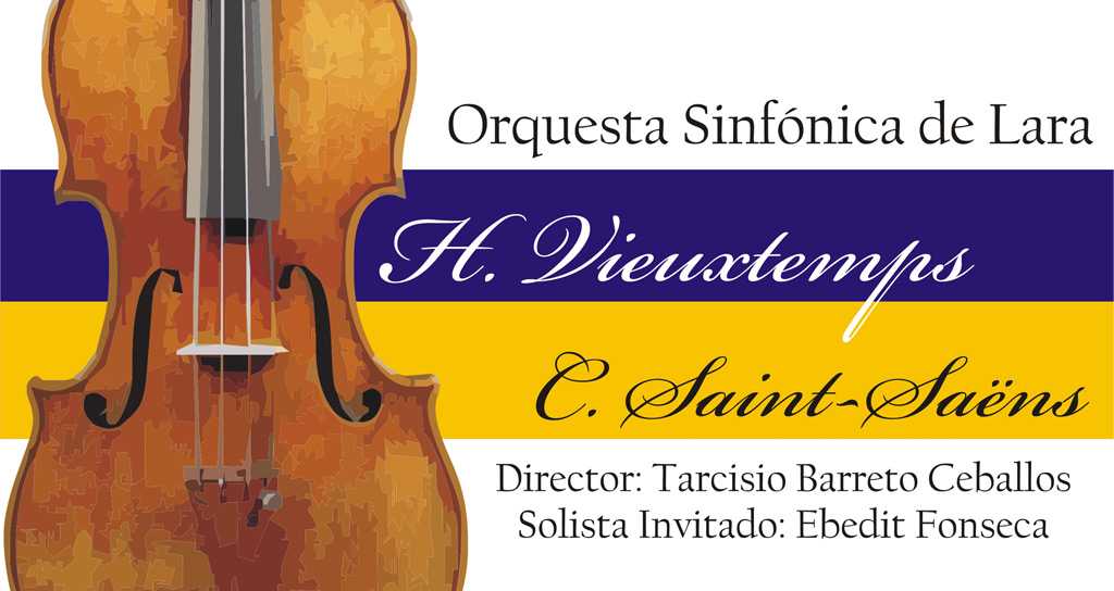 Vieuxtemps y Saint-Saëns por la Sinfónica de Lara