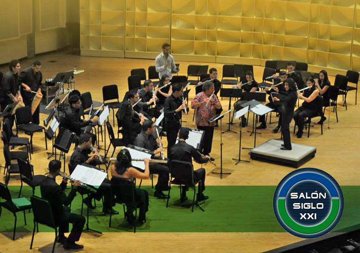Orquesta Nacional de Flautas en el Salón Siglo XXI