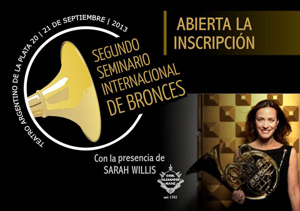 Segundo Seminario Internacional de Bronces en el Teatro Argentino de la Plata
