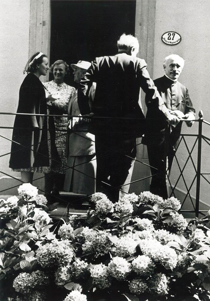 Arturo Toscanini en el concierto inaugural en 1938 en la casa de Wagner en la ciudad. / Archiv lucerne festival