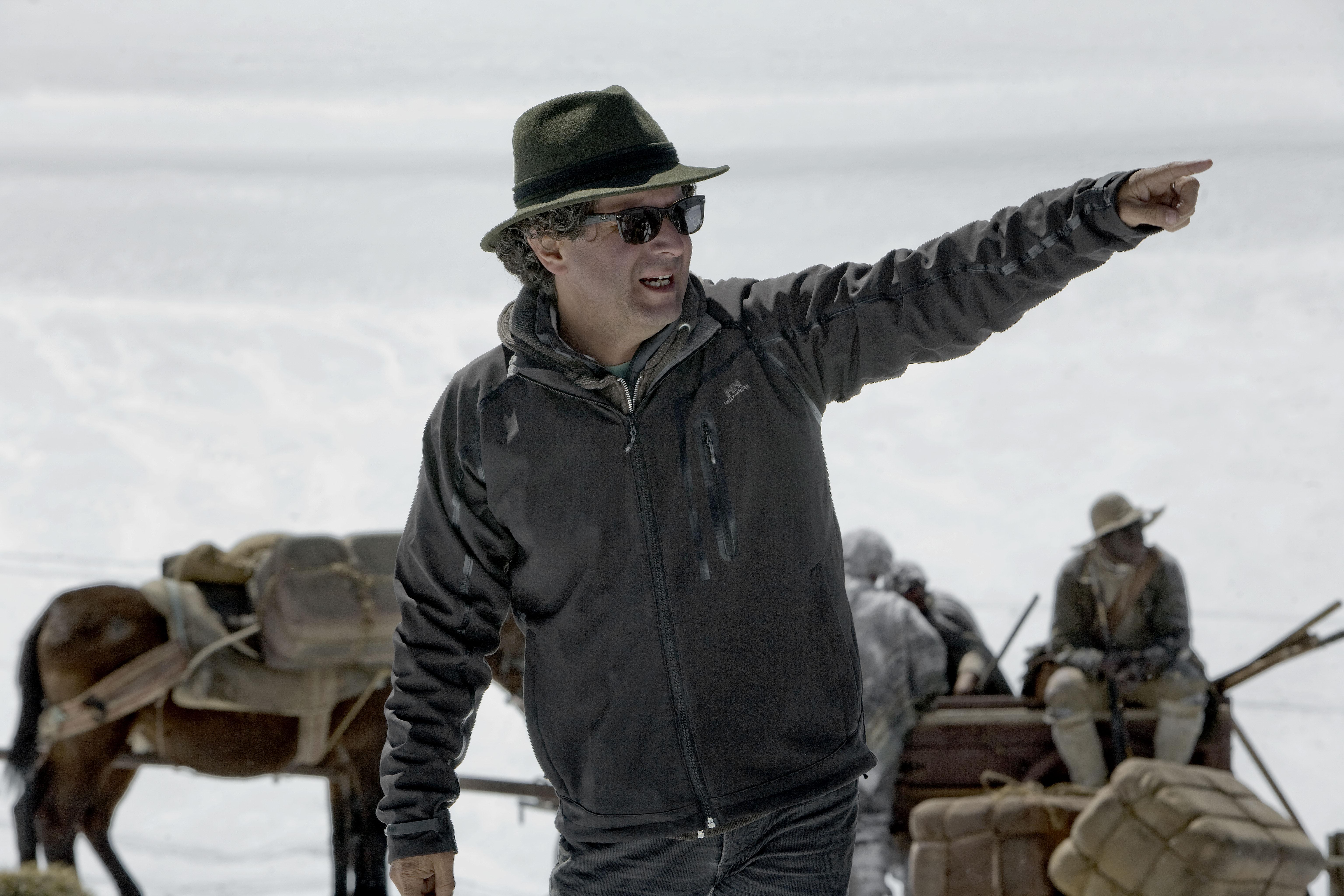 Alberto Arvelo durante el rodaje de Libertador