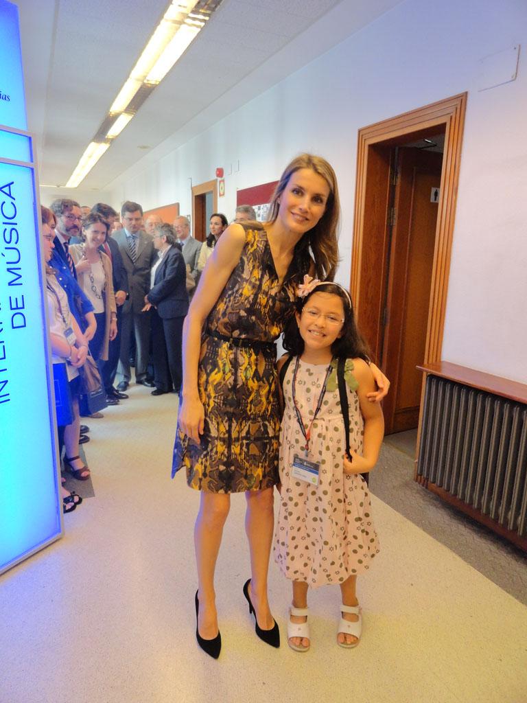 Princesa de Asturias y Valeria Sarmiento