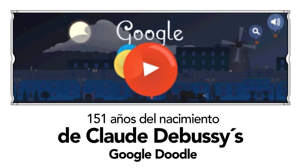 Claude Debussy orquesta el doodle de Google