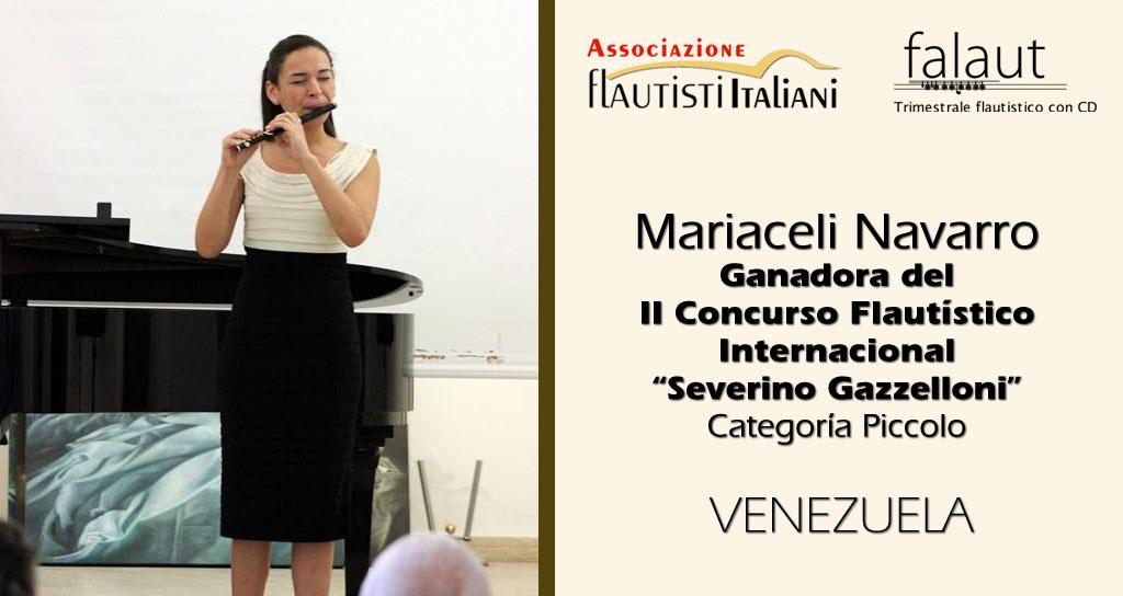 "Mariaceli Navarro ganadora del II Concurso Internacional de Flauta ""Severino Gazzelloni"""