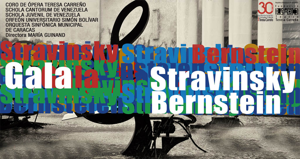 Stravinsky y Bernstein se encuentran en la Sala Ríos Reyna