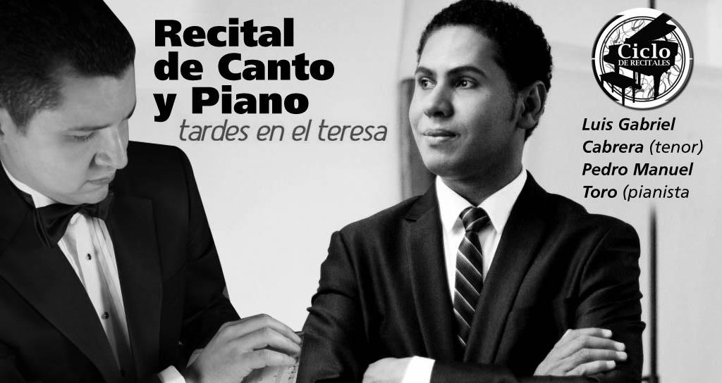 Tardes en el Teresa presenta Recital de Canto y Piano