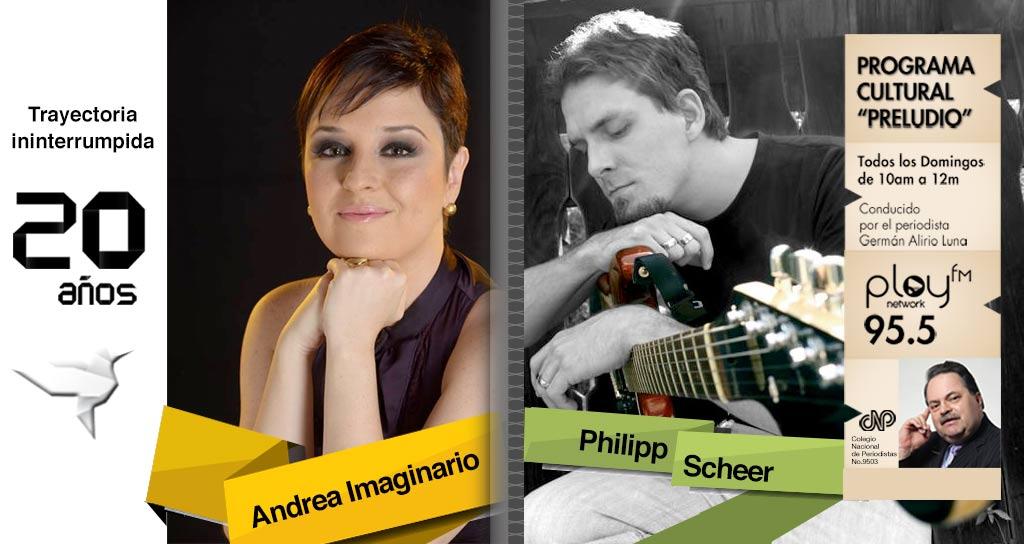 """""""Preludio"""" dos estrellas invitadas Andrea Imaginario y el guitarrista y líder de la Banda Sibelius Philipp Scheer"""