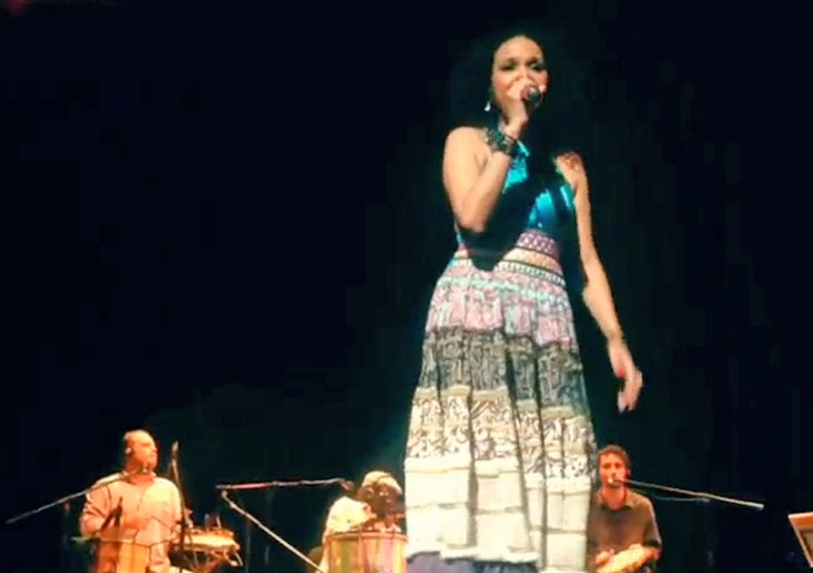 Teresa Cristina refrescó con samba a un país dividido