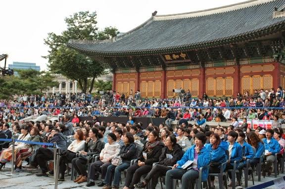 A pesar del frío clima, el público coreano disfrutó una tarde de proyectos en común con Venezuela y de intenso repertorio