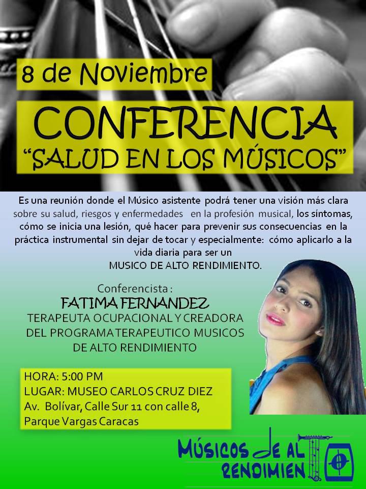 Conferencia La salud en los Musicos