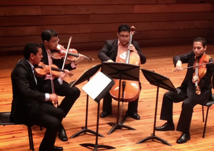 El Cuarteto Yaracuy se presentará en la Hacienda La Vega