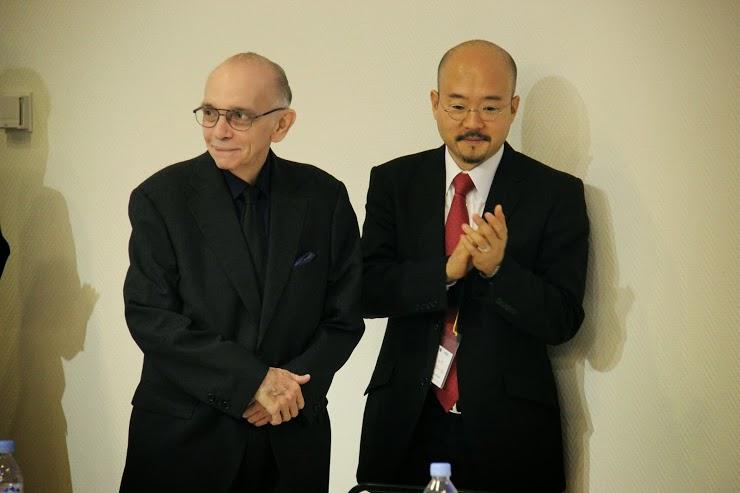 EL MAESTRO ABREU Y EL EMBAJADOR DE VENEZUELA EN JAPÓN, SEIKO ISHIKAWA