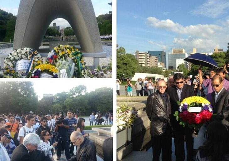 La SJC visita el Parque de la Memoria por la Paz antes de debutar en Japón