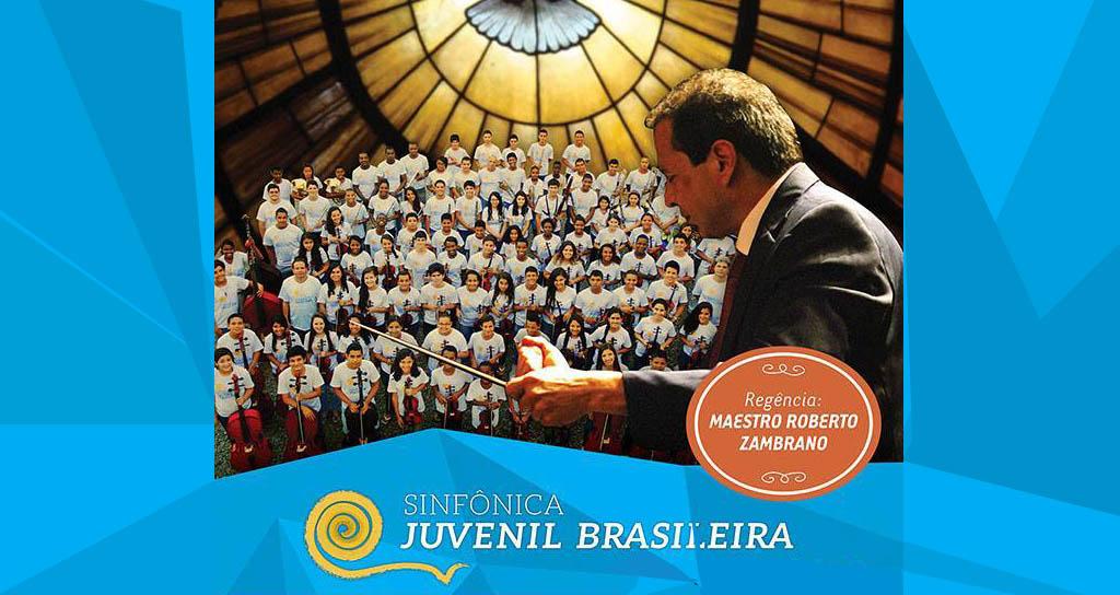 Roberto Zambrano conduce a la Sinfónica Juvenil Brasilera
