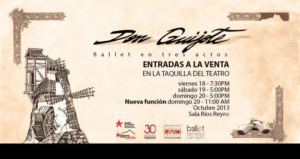 Coreografía del Quijote llega al Teresa Carreño luego de 19 años de ausencia