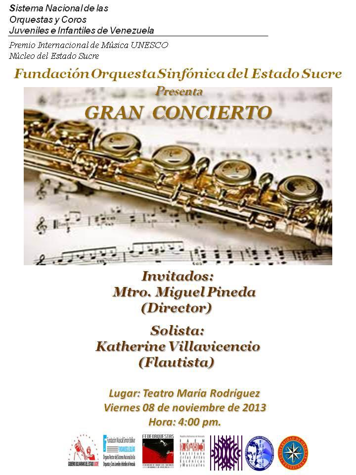 La Orquesta Sinfónica del Estado Sucre será dirigida por el Maestro Miguel Pineda