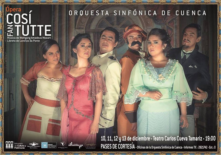 El venezolano Oswaldo Rodríguez participa en el montaje Così Fan Tutte en Ecuador