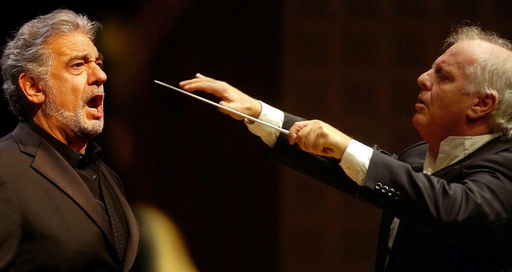 Daniel Barenboim y Plácido Domingo