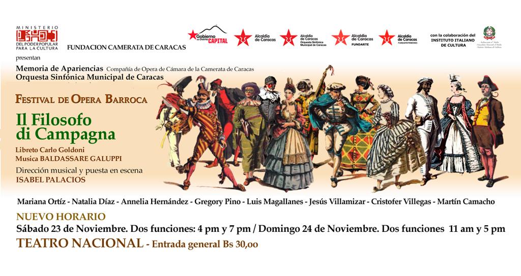 Finaliza el Festival de Ópera Barroca en el Teatro Nacional, en el marco de los 35 años de la Camerata de Caracas
