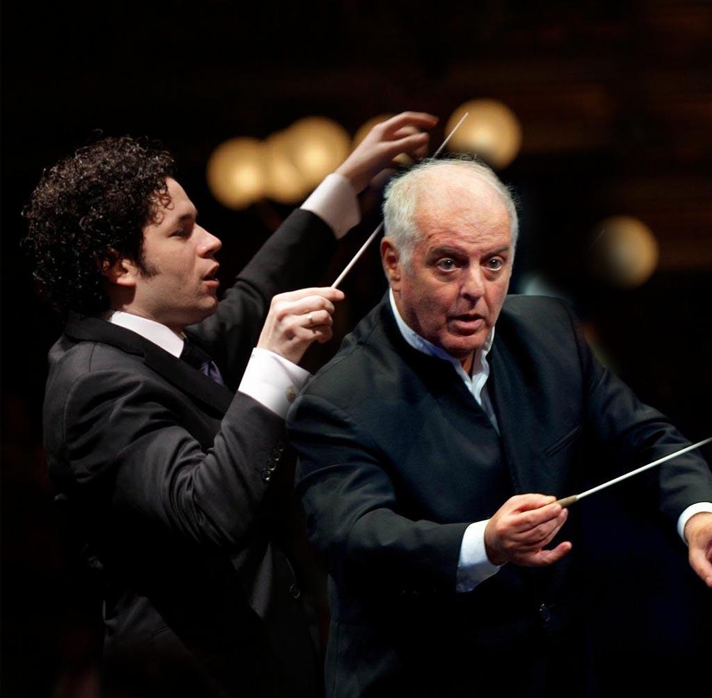 Daniel Barenboim y Gustavo Dudamel