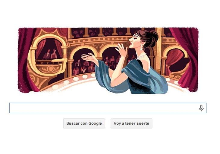 Doodle Maria Callas