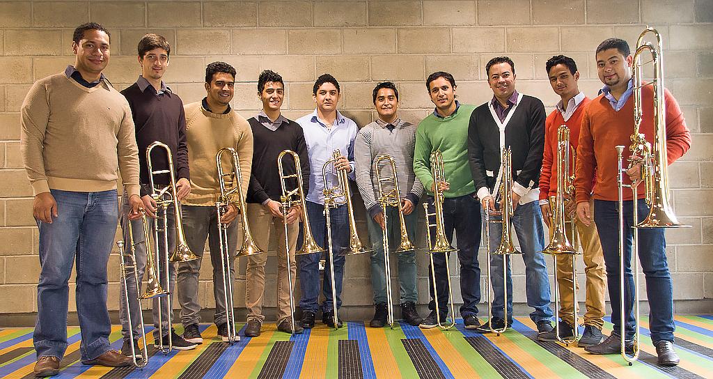 Jóvenes Trombonistas se congregan en la Sala Fedora Alemán