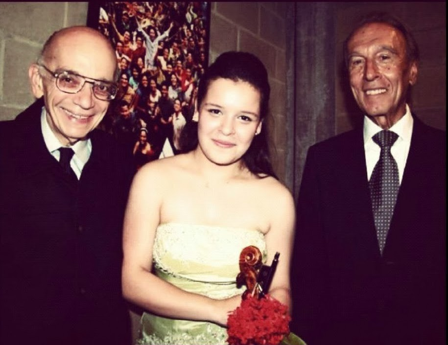 Maestro Abreu, Angélica Olivo y Claudio Abbado