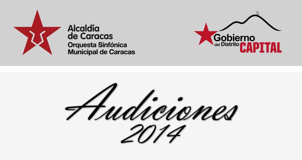 La Orquesta Sinfónica Municipal de Caracas convoca a las Audiciones
