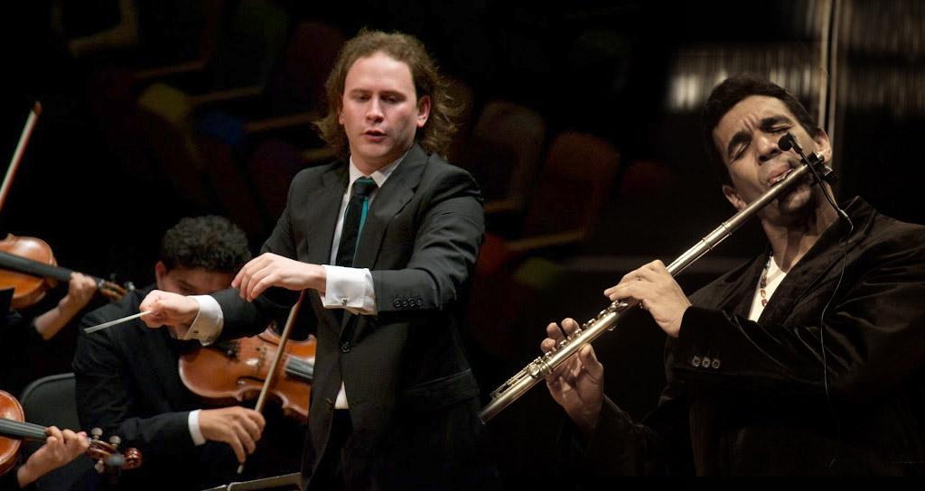 Huáscar Barradas y Christian Vásquez en concierto por la Paz